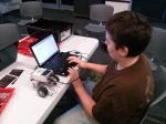 LBB re-programming his robot